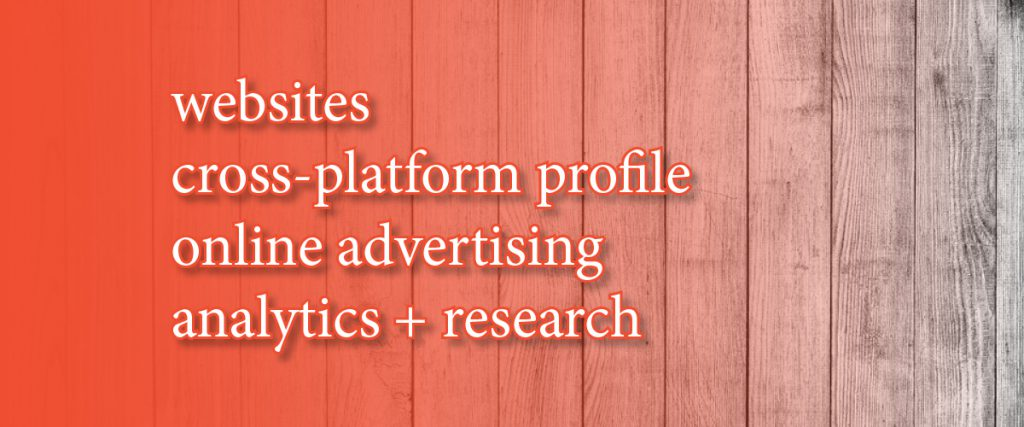 Digital Header - Websites, your digital profile, online advertising, analytics + research