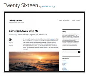 image of twenty sixteen theme