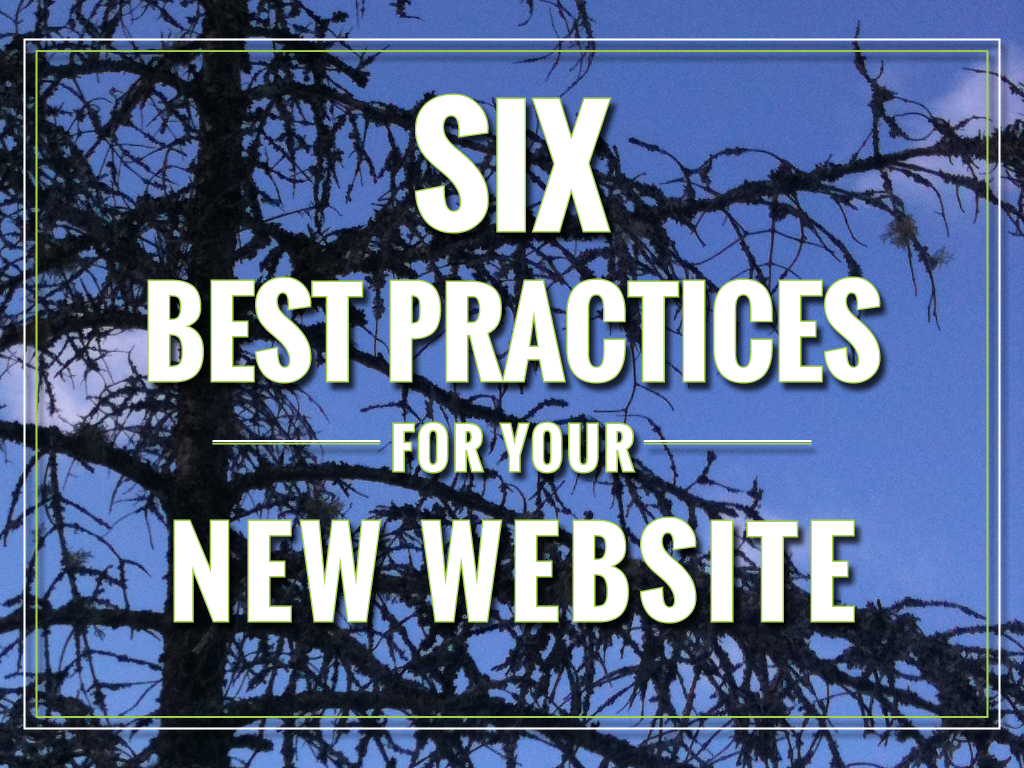 Tree and Sky with text: Six Best Practices for your New Website